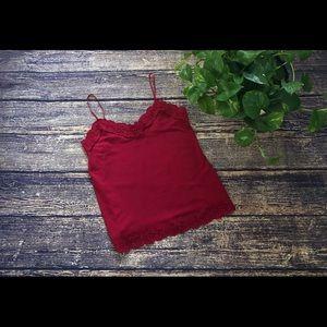🌀 White House Black Market Red Cami 🌀